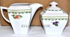 2 piezas azucarero Jarrita de Leche Jarra de nata Set Platos, vajilla blanco