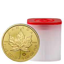 Roll of 10 - 2017 Canada $50 1 oz. Gold Maple Leaf BU Coins SKU44200