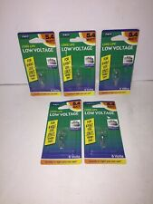 Lot of (5) Feit Electric Light Bulbs 5.4W Wedge Base BP939 for 6 Volt Use Only