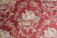 Antique French Normandy  textile 18th century linen block printed textile c1790