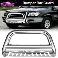 Chrome Bull Bar Push Bumper Grille Grill Guard For 2016 - 2018 Toyota Tacoma