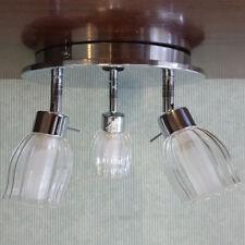 EX STORE DISPLAY 3 Lt Circular Spotlight Plate Glass Shades Home Light Litecraft