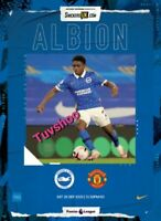 Brighton & Hove Albion v Manchester United MATCH PROGRAMME 26/9/20! IN STOCK!!!
