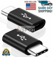 2 Pack Micro USB to Type C Adapter Converter Micro-B to USB-C Connector