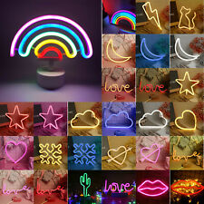 Rainbow Love Neon Sign LED Night Colorful Light Wall Lamp For Kid Children Room
