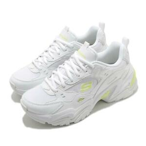 Skechers Stamina V2-The Rise Up White Lime Women Casual Chunky Shoes 149510-WLM