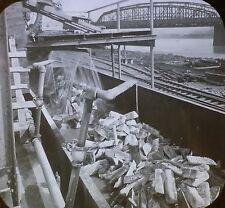 Loading Pig Iron into Cars,Pittsburgh, Pennsylvania, Magic Lantern Glass Slide