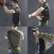 Left Arm Tactical Anti-Theft Pistol Gun Hidden Underarm Shoulder Holster Bag BK