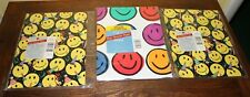 Vintage Gift Wrapping Paper Smiley Faces 2 New 1 Opened