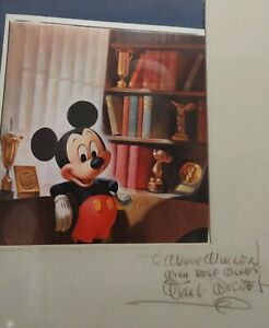 Micky Mouse Picture Signed By Walt Disney Himself