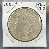 1921-D US Morgan Silver Dollar $1 90% US Collectible Coin VF-EF #111820-1