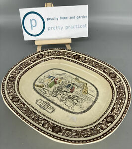 Vintage Adams Tunstall Stoke Pottery Mrs Gummidge David Copperfield Wall Plate