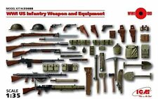 Ww I U.s. Infantry Arma & equipar. (Winchester, Colt, Lewis & Browning) 1/35 Icm
