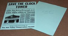 BTTF Back to the Future, Save the Clock Tower Flyer