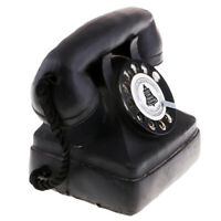 1920-1930s British Fashioned Rotary Dial Telephone Retro Landline Phone Toy