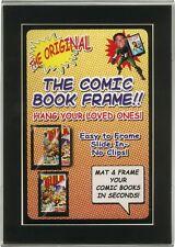 (1) CXMMPF Comic Book Picture Frame Display Current Modern Size Black Matting