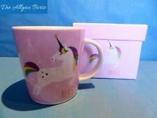 PPD Kaffee Tee Tasse Pink Unicorn Einhorn Trend Mug Fine Bone China Porzellan