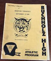 1974 Florida Buchholz Bobcats vs Bradford Tornadoes High School Football Program