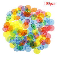 100X Flat Round Plastic Golf Ball Position Marker Multicolor Markers Mark HGU LF