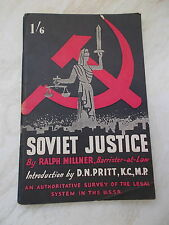 Soviet Justice- An authoritative survey of the legal system in the USSR -Millner