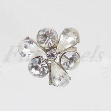 Spilla tono argento con grandi cristalli anni 50/60 vintage americana