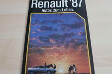 123487) Renault Espace J11 - R 5 - R 21 - Alpine V6 -Prospekt 1987