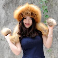 Finn Fox Fur Hat with Rex rabbit Fur Top