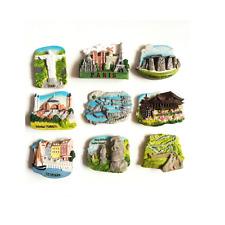 3D Resin France Japan Denmark Brazil Magnet Decor City Tourist Travel Souvenir