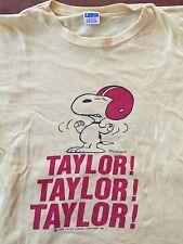 Vintage Snoopy Taylor University Football Champion Blue Bar Large Usa Made