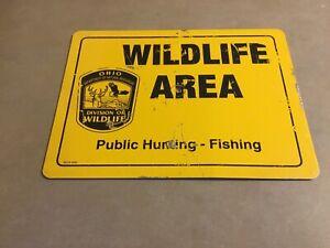 Vintage OHIO Public Hunting-Fishing WILDLIFE AREA Sign