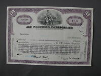 ACF INDUSTRIES INCORPORATED - STOCK CERTIFICATE azione Aktie acción share action