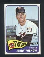 1965 Topps #529 Jerry Fosnow EXMT+ RC Rookie SP Twins 112230