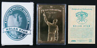 MIB Nolan Ryan 1996 Bleachers 23 Karat Gold MLB Baseball Greatest Champions Card
