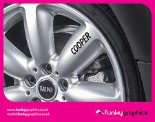 Mini cooper de aleación rueda calcomanías adhesivos con el logotipo de gráficos x5 Vinilo Negro