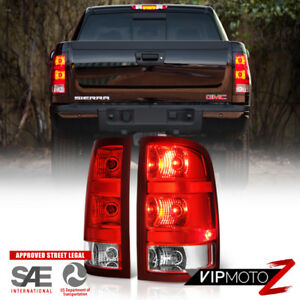 [FACTORY REPLACEMENT] 2007-2013 GMC Sierra LEFT RIGHT Pair Tail Lights Lamps SET