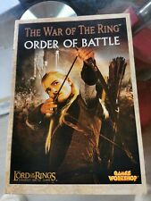 Games Workshop The Lord Of The Rings Order Of Battle Book 2005 Limited Edition