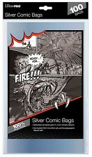 "Ultra Pro 100 Count Silver Size Comic Bags 7-1/4"" X 10-3/8"""