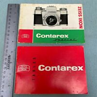 Zeiss Ikon Contarex Special Camera Manual Guide Booklet Tables 1950's Germany