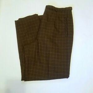 Vintage made in USA Pendleton pants slacks virgin wool 1980s 1990s brown and pin