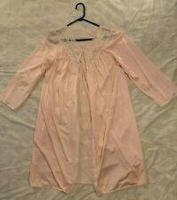 Shadowline Vintage Pink Silky Nightgown Nylon Size Small