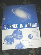 SCIENCE IN ACTION PROGRAMME SCHEDULE DEC 1964 TO MAR 1965 KGW-TV PORTLAND OREGON