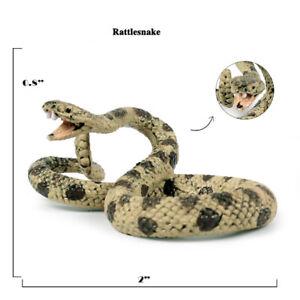 Fake Realistic Mini Rattlesnake Snake Scary Toy Prank Party Joke Halloween Prop