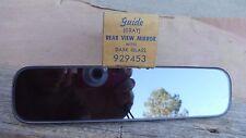 NOS GUIDE REAR VIEW MIRROR GRAY w/ DARK GLASS Original GM deluxe accessory