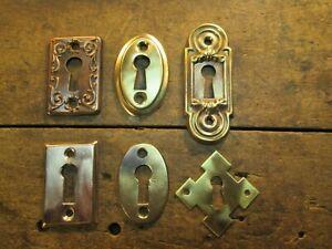 FH/™ 52mm Oval Reproduction Antique Black Standard Key Hole Escutcheon