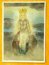 Sulamith Wulfing 1936 IM LICHT Dans la Lumiere Girl Crown Artist Signed Postcard