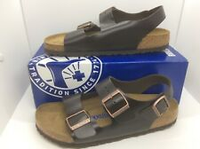 BIRKENSTOCK Milano Amalfi Brown Leather Sandals Shoes Sz W 9 M 7 EU40 ZB6-32