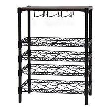 New listing 24-Bottle Wine Rack Storage Shelf Steel Wire Kitchen Home Bar