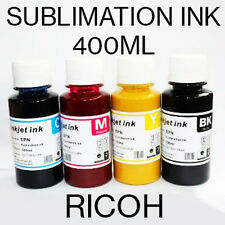 4 COLORI Sublimazione Inchiostro Gel Per Stampanti RICOH 400 ML CMYK il trasferimento di calore 100 ML