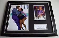 Jayne Torvill & Christopher Dean SIGNED FRAMED Photo Autograph 16x12 display COA
