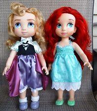 "Disney Animator's Collection Princess 16"" Doll ARIEL or AURORA + dress U PICK"